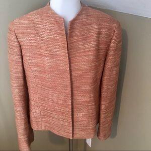 Lafayette 148 Women's Tweed Open Front Jacket SZ 8